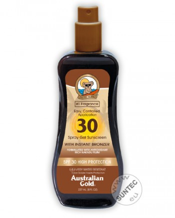 Australian Gold - SPF 30 Spray Gel mit Bronzer (237ml)