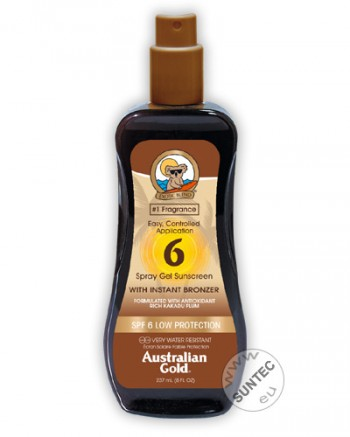 Australian Gold - SPF 6 Spray Gel mit Bronzer (237 ml)