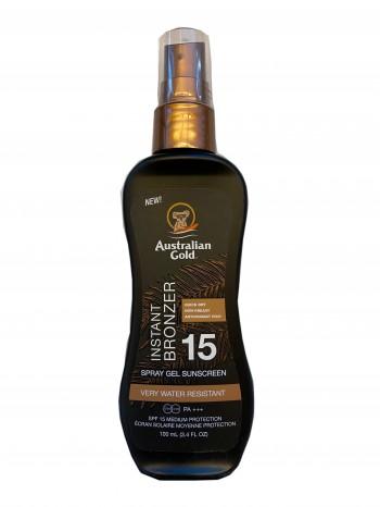 Australian Gold - SPF 15 Spray Gel mit Bronzer Travel Size (100 ml)