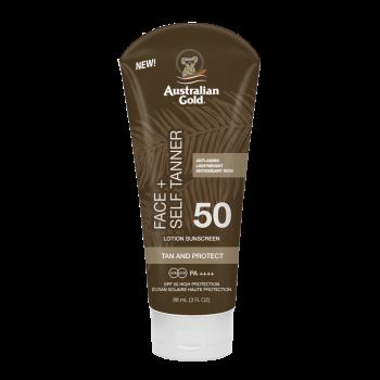 Australian Gold - SPF 50 Face + Self Tanner (88 ml)